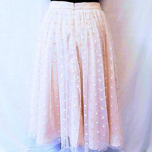 Soprano Skirts - Soprano Mesh Overlay Polka Dot Blush Skirt L💋